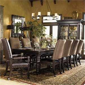 Tommy Bahama Home Kingstown Pembroke Rectangular Formal Dining Table in Tamarind Finish
