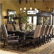 ADD TO YOUR SET: Tommy Bahama Home Kingstown Pembroke Rectangular Formal Dining Table in Tamarind Finish