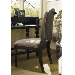 Tommy Bahama Home Kingstown Isla Verde Fabric  Dining Chair in Tamarind