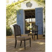 Tommy Bahama Home Kingstown Isla Verde Fabric Arm Chair in Tamarind