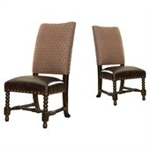 Tommy Bahama Home Kingstown Edwards Leather Side Chair in Tamarind
