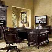 Tommy Bahama Home Kingstown Admiralty Wood Executive Desk in Tamarind
