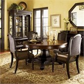 Tommy Bahama Home Kingstown Bonaire Round Formal Dining Table in Cassis Finish