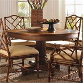 Tommy Bahama Home Island Estate Cayman Pedestal Casual Dining Table in Plantation Finish