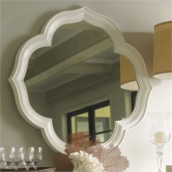 Tommy Bahama Home Ivory Key Paget Mirror in White