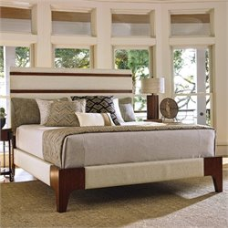 Tommy Bahama Island Fusion Mandarin Panel Bed in Ivory