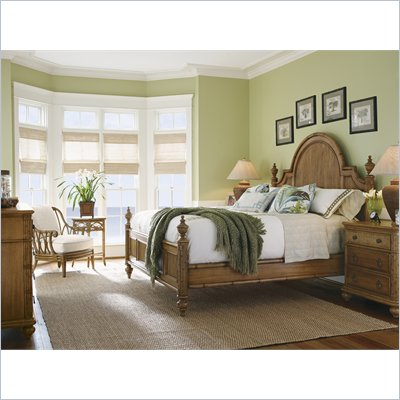 Tommy Bahama Home Beach House Belle Isle Bed in Golden Umber