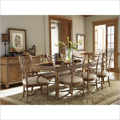 Tommy Bahama Home Beach House Boca Grande Dining Table in Golden Umber