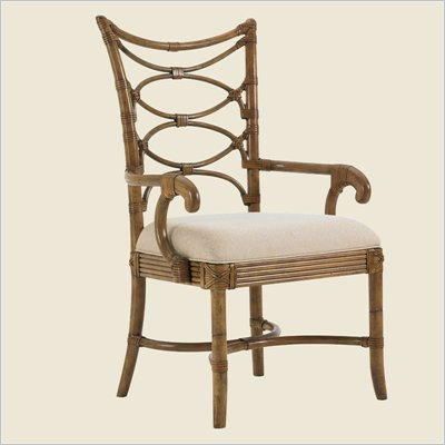 Tommy Bahama Home Beach House Sanibel Arm Chair in Golden Umber- Ships Assembled