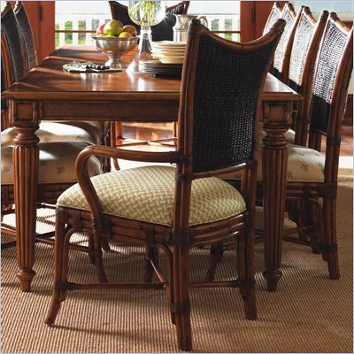 Tommy Bahama Home Island Estate Mangrove Fabric Arm Chair in Plantation