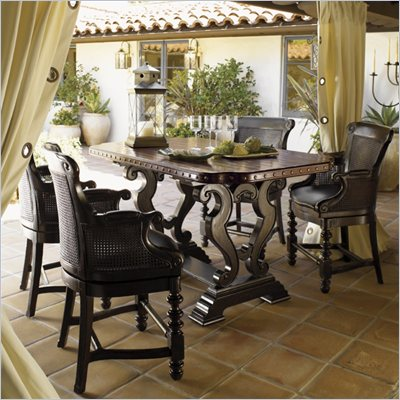 Tommy Bahama Home Kingstown Sienna Bistro Table in Cassis