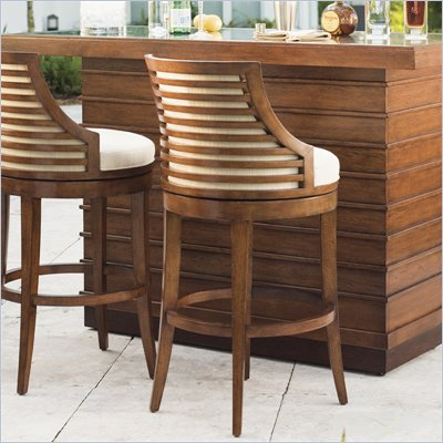 Tommy Bahama Home Ocean Club Cabana Swivel Bar Stool