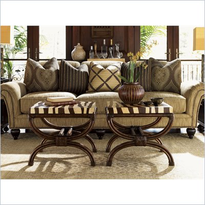 Tommy Bahama Home Royal Kahala Striped Delight Accent Table