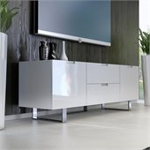 Modloft Eldridge 59 Entertainment Unit in White Lacquer