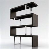 Modloft Pearl Modular Wood Bookcase in Wenge
