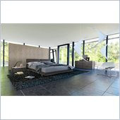 Modloft Broome Bed in Dusty Grey Leather