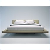 Modloft Jane King Size Platform Bed in Beige Fabric