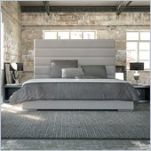 Modloft Prince Bed in Dusty Grey Leather