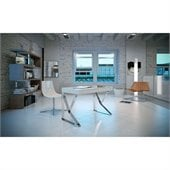 Modloft Houston Desk in White Lacquer