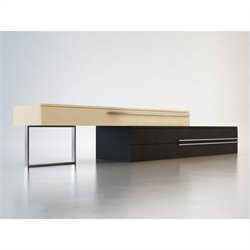 Modloft Gramercy TV Stand in Wenge-Beige Lacquer