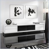 Modloft Lexington 94 Entertainment Unit in White Lacquer