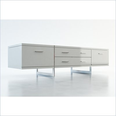 Modloft Allen 72&quot; Entertainment Unit in White Lacquer