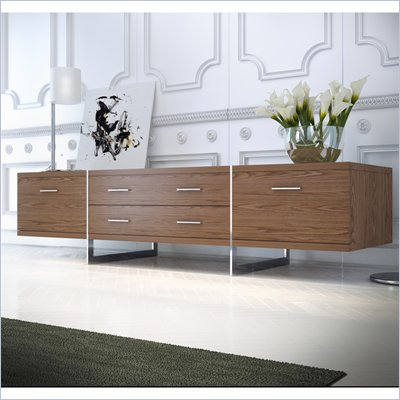 "Modloft Allen 72"" Entertainment Unit in Walnut Finish"