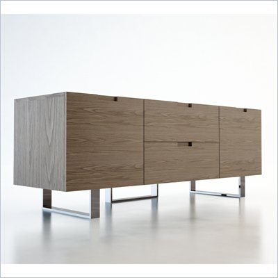 "Modloft Eldridge 59"" Entertainment Unit in Walnut Finish"