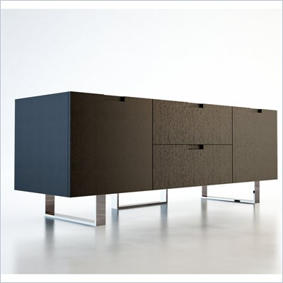 Modloft Eldridge 59&quot; Entertainment Unit in Wenge Finish