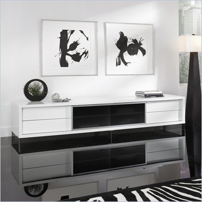 Modloft Lexington 94&quot; Entertainment Unit in White Lacquer