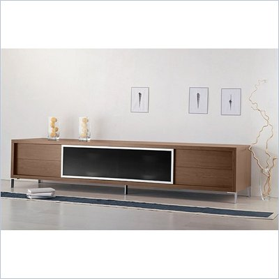 "Modloft Lexington 94"" Entertainment Unit in Walnut"