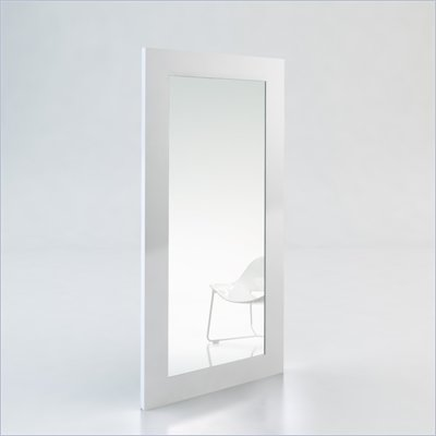 Modloft Norfolk Mirror in White Lacquer