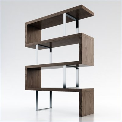 Modloft Pearl Bookcase in Walnut