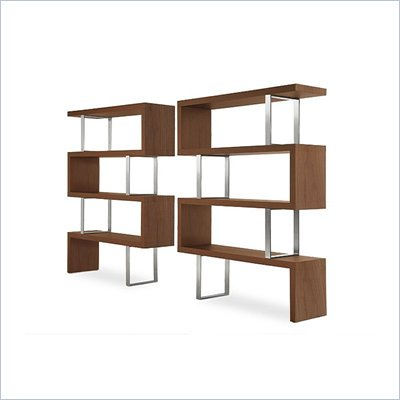 Modloft Pearl Modular Wood Wall Bookcase in Walnut