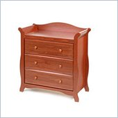 Stork Craft Aspen 3 Drawer Chest in Cognac Brown Finish