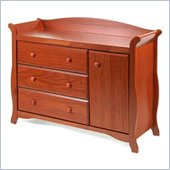 Stork Craft Aspen Combo Dresser in Cognac Brown
