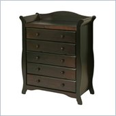 Stork Craft Aspen 5 Drawer Chest in Espresso Finish