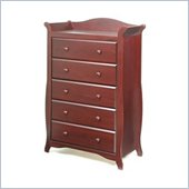 Stork Craft Aspen 5 Drawer Chest in Cherry Finish