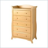 Stork Craft Aspen 5 Drawer Chest in Natural Finish