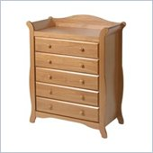 Stork Craft Aspen 5 Drawer Chest in Oak Finish