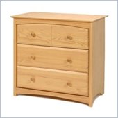 Stork Craft Beatrice 3 Drawer Chest in Natural Finish
