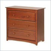 Stork Craft Beatrice 3 Drawer Chest in Cognac Brown Finish