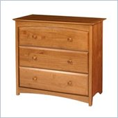 Stork Craft Beatrice 3 Drawer Chest in Oak Finish