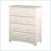 Stork Craft Beatrice 4 Drawer Chest in White Finish