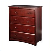 Stork Craft Beatrice 4 Drawer Chest in Cherry Finish