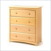 Stork Craft Beatrice 4 Drawer Chest in Natural Finish