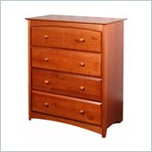 Stork Craft Beatrice 4 Drawer Chest in Cognac Brown Finish
