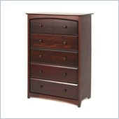Stork Craft Beatrice 5 Drawer Chest in Cherry Finish