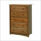 Stork Craft Beatrice 5 Drawer Chest in Oak Finish