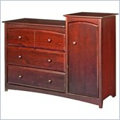 Stork Craft Beatrice Combo Tower in Cherry